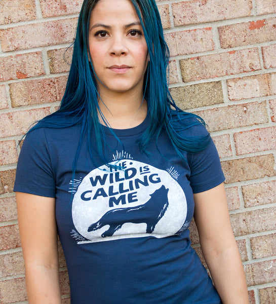 """Wild is Calling"" Navy Womens Tee"