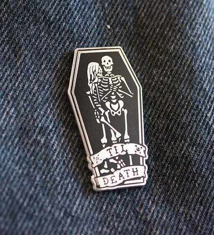 """Til Death"" Lapel Pin"