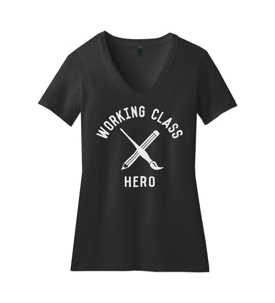 """Working Class Hero - ARTIST"" Black Womens Tee"