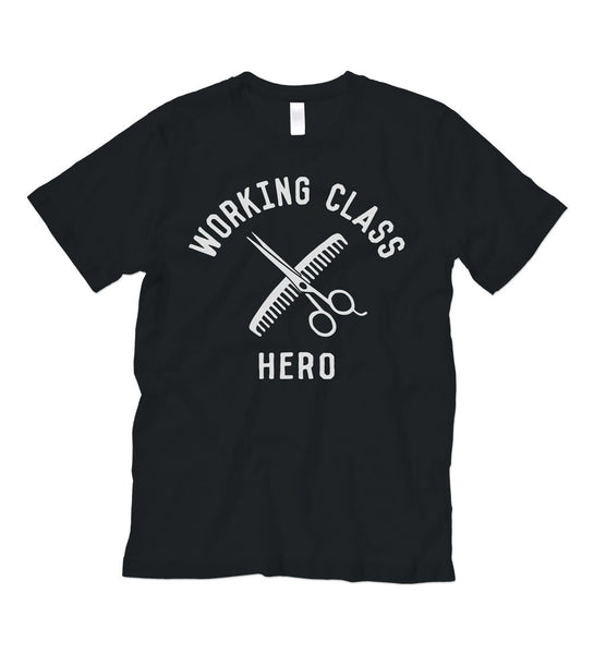 """Working Class Hero - Barber"" Black Tee"