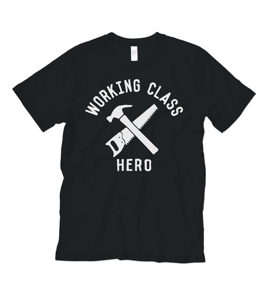"""Working Class Hero - Construction"" Black Tee"
