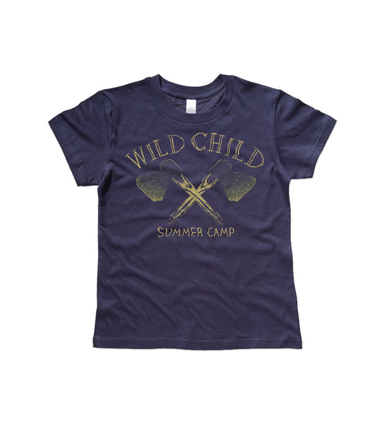 """Wild Child"" Navy Kids Tee"