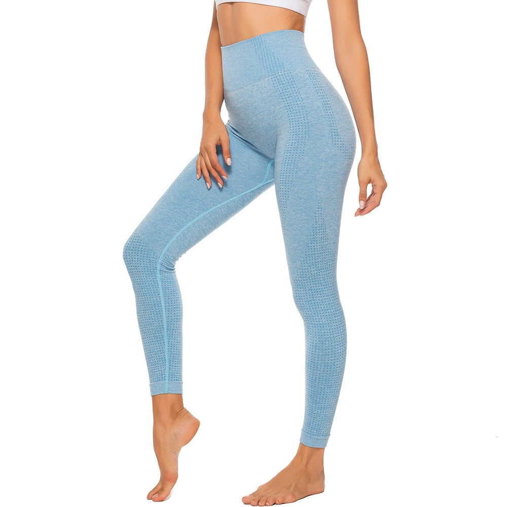 High Waist Seamless Leggings With Tummy Control