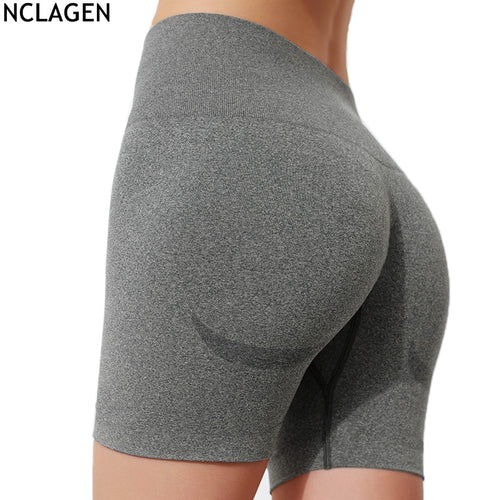 Seamless High Waist Sports Short Leggings With Tummy Control