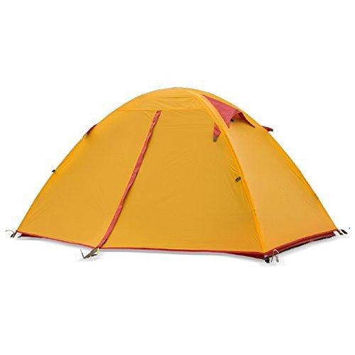 Weanas™ 2 Person Double Layer Silicone Coating Fabric Backpacking Tent 3 Season - WEANAS