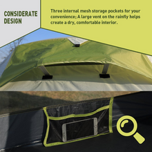 Weanas One Person Tent, Single Bivy Backpacking Tent - Extra Size Lightweight 3 Season Tent with Gear Storage Footprint for Camping, Hiking, Traveling - WEANAS