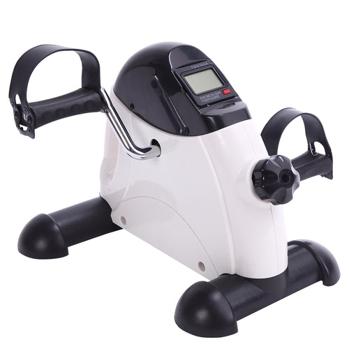 Portable Home Use Hands and Feet Trainer Mini Exercise Bike White & Black