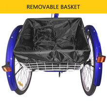 "26"" Adult Trikes Wheels Low Step-Through with Cargo Basket/Full with Assembly Tools - WEANAS"
