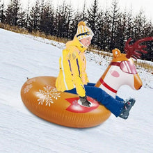 Weanas Snow Tube, 47 Inch Inflatable Snow Sled for Kids and Adults - WEANAS