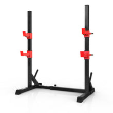 Adjustable Squat Rack Dipping Station Barbell Rack Dip Stand Fitness Bench Press Equipment Holder Weight Bench Equipment for Home Gym - WEANAS