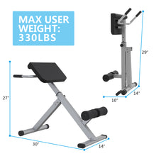 Roman Chair Back 45 Degree Hyperextension Bench Abdominal Exercise Sports Machine - WEANAS