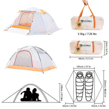 2021 New Arrival Season Camping Tent with Snow Skirt Double Layer Waterproof Portable Backpacking Tent - WEANAS