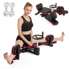 Presale Weanas Pro Leg Stretcher Machine 330LBS Leg Stretch Training Heavy Duty Stretching Machine Gym Gear Fitness Equipment (Black and Red) - WEANAS™