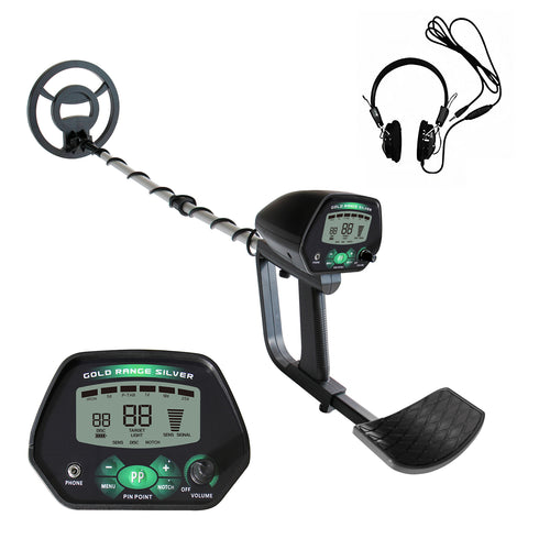 "Weanas Metal Detector for Adults, IP68 Waterproof Metal Detector with High Accuracy, All & Disc & Notch & Pinpoint Modes, Adjustable Light w/Headphones and 10""Waterproof Search Coil - WEANAS"