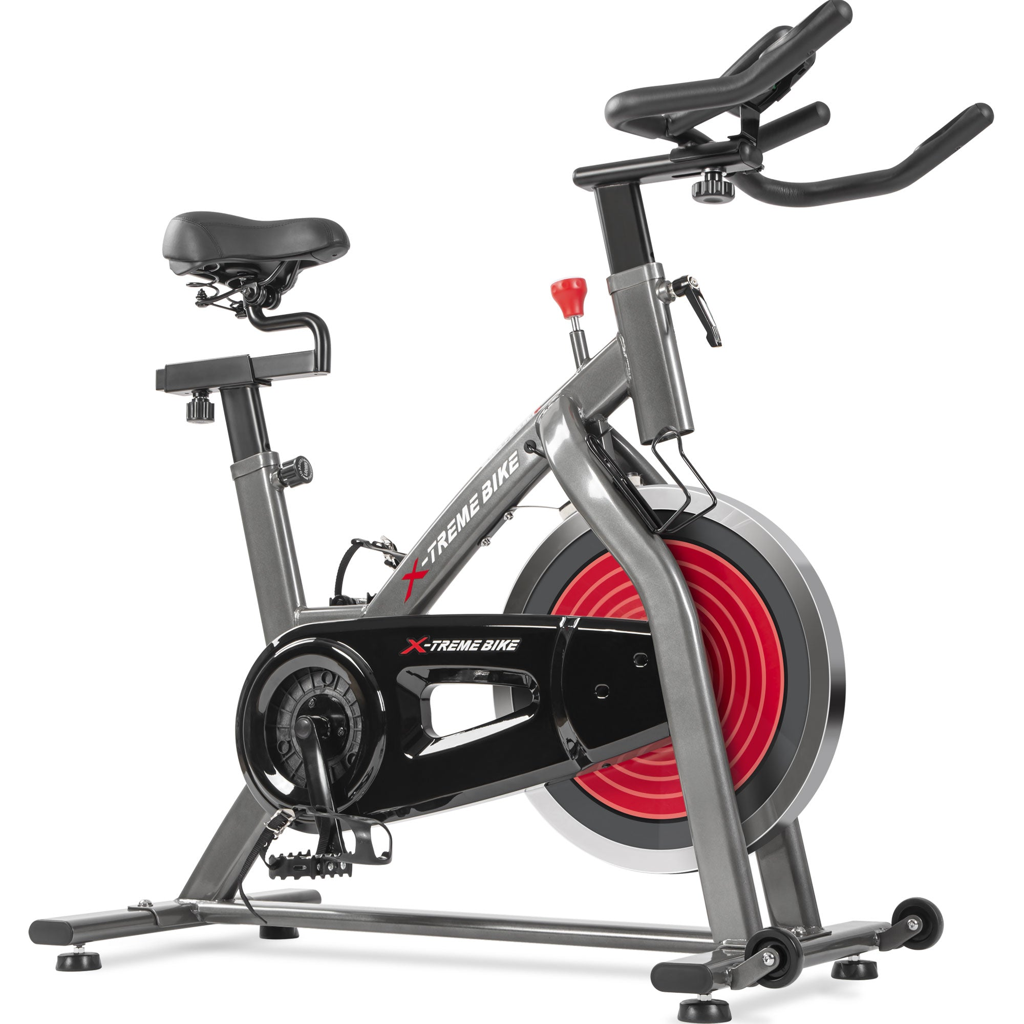 Indoor Cycling Bike With 4-way Adjustable Handlebar & Seat, Lcd Monitor For Home Cardio Workout Exercise Bike