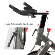 Indoor Cycling Bike with 4-Way Adjustable Handlebar & Seat, LCD Monitor for Home Cardio Workout Exercise Bike - WEANAS