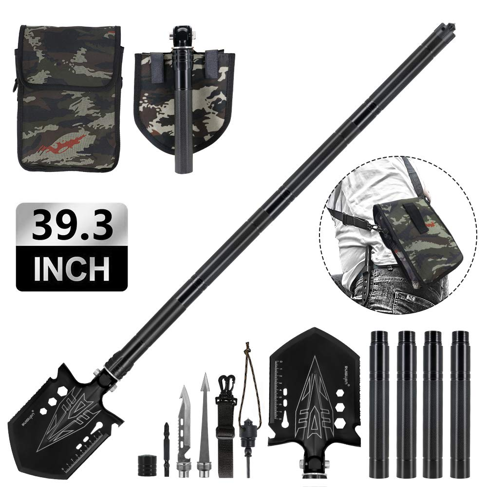 Portable Survival Shovel, Outdoor Tools for Hunting, Camping, Hiking, Fishing 39.3