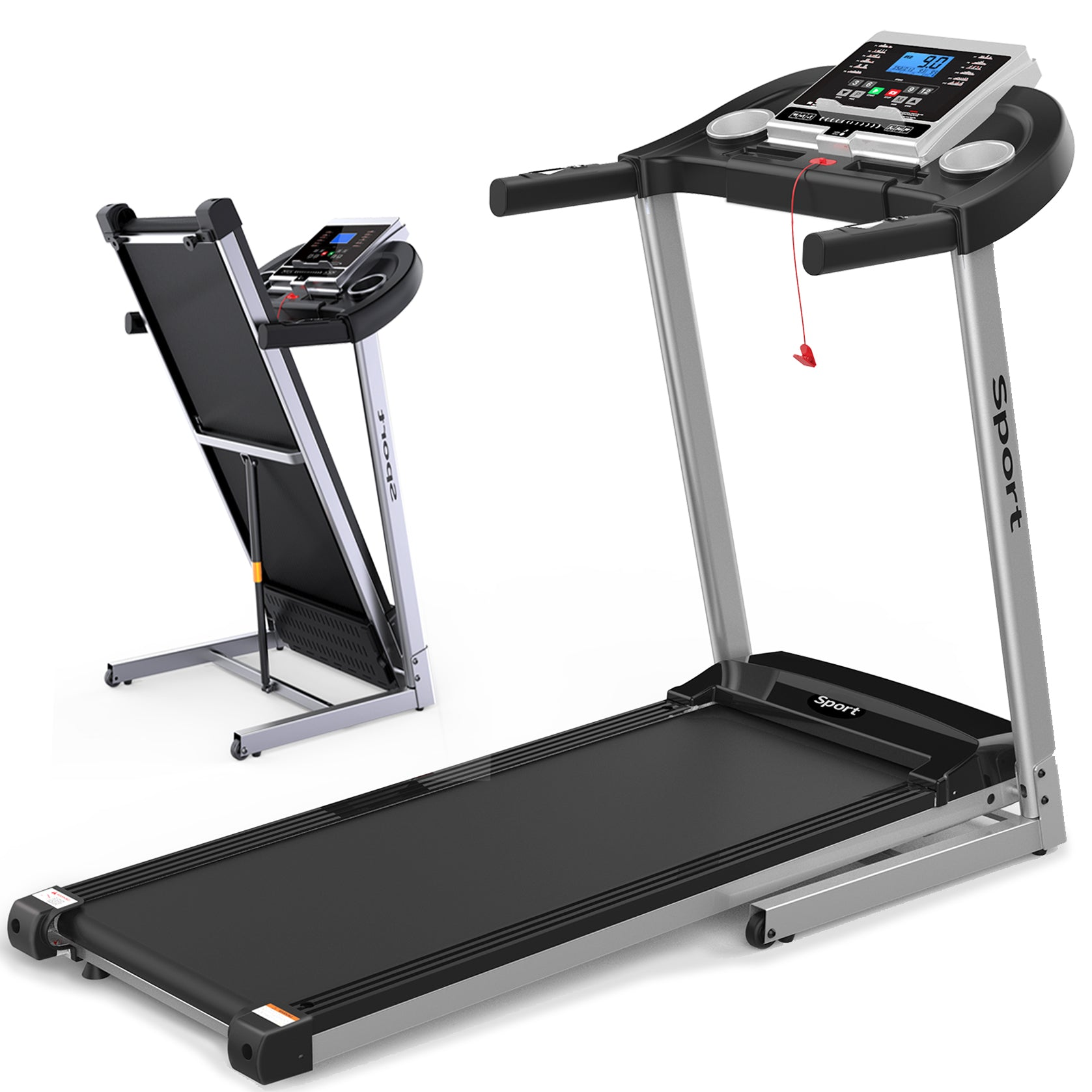 Folding Electric Treadmill For Home Workout