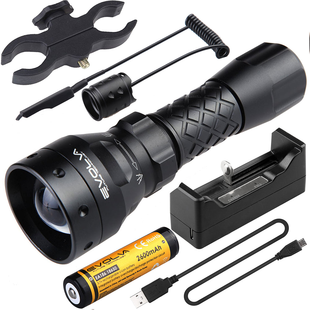 T38 IR 38mm Lens Infrared Flashlight Light Night Vision Torch