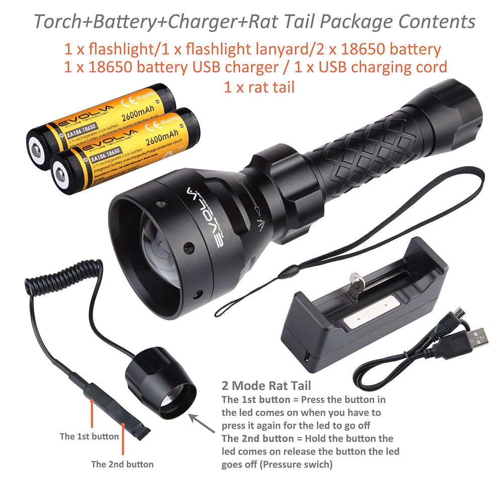 T67 67mm Night Vision Torch Light