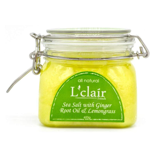 L'Clair Sea Salt with Ginger Root Oil and Lemongrass