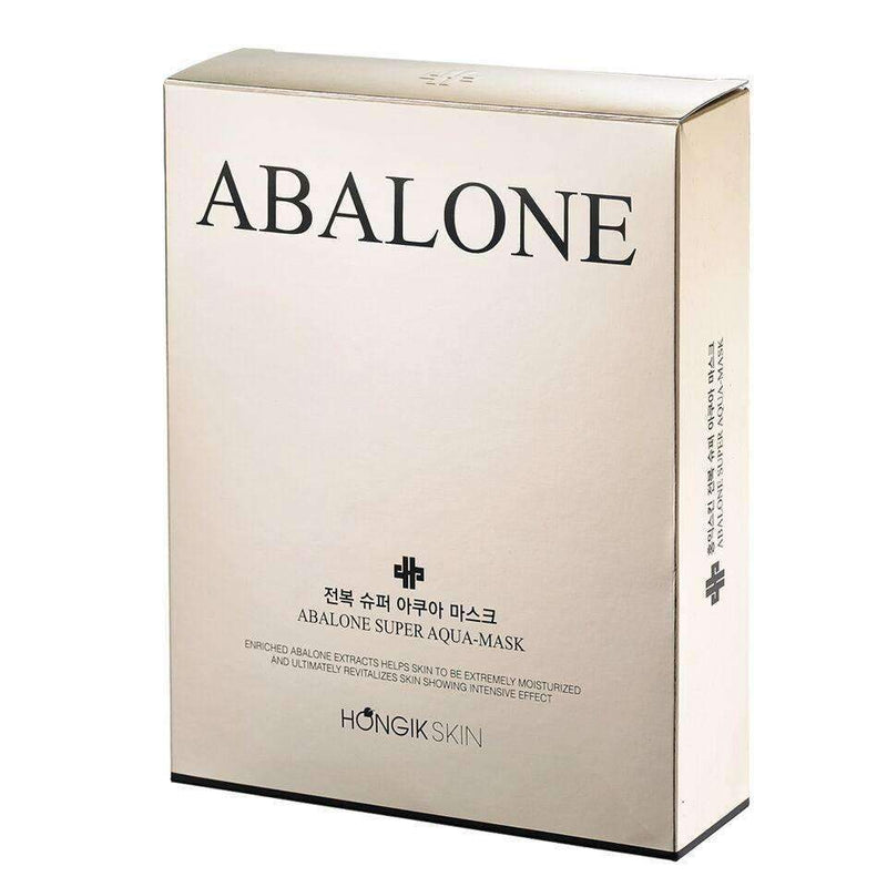 Hongik Skin Abalone Super Aqua Hyaluronic Mask (10pcs) - Effortless