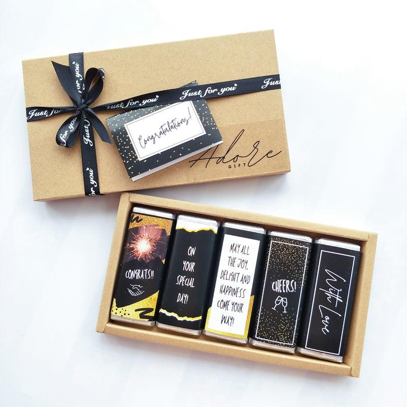 Chocolate Care Pack with Personalised Photo and Greeting Card