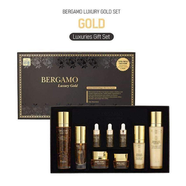 Bergamo Luxury Gold Collagen Wrinkle Care 9pcs Set