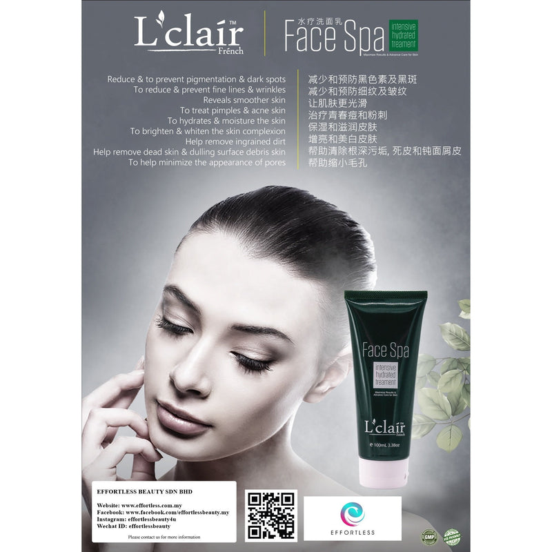 L'Clair Face Spa (100ml) - Effortless