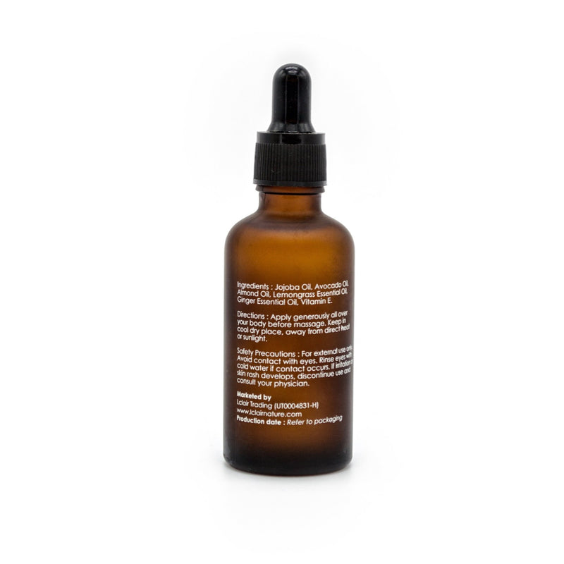 L'Clair Ginger and Lemon Grass massage oil (50ml) - Effortless