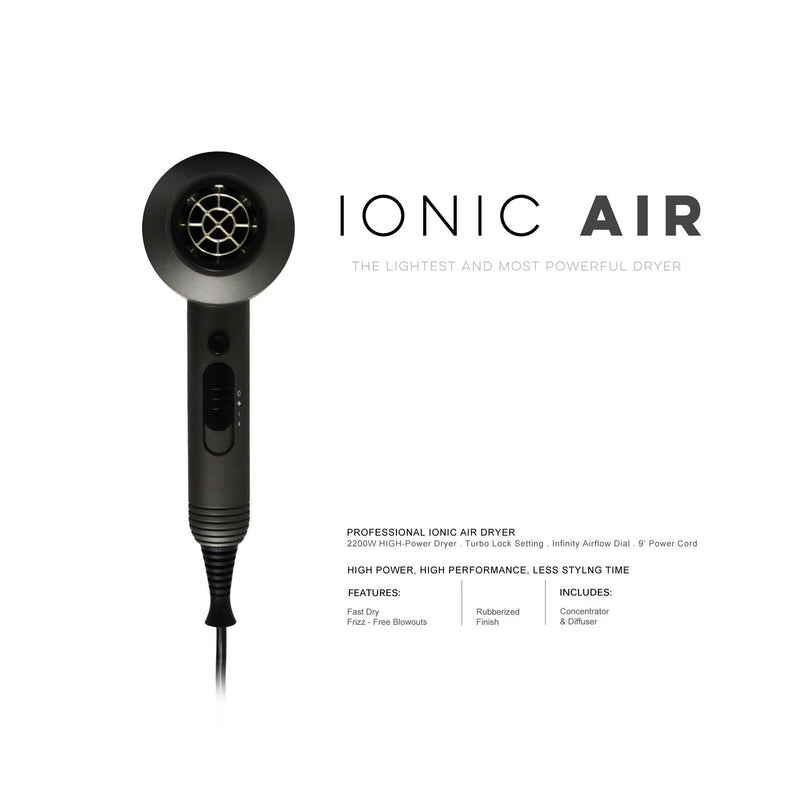 Ionic Air Hair Dryer - Effortless