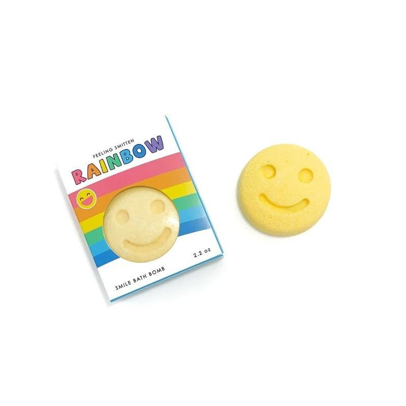Rainbow Happy Face Bath Bomb