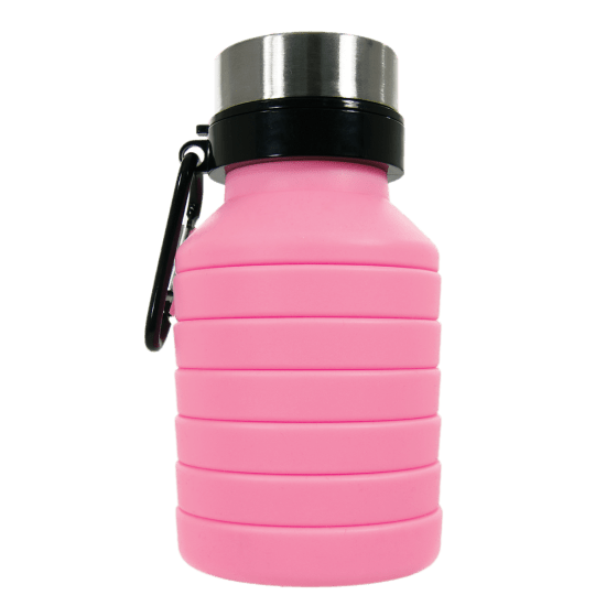 Pink Collapsible Water Bottle