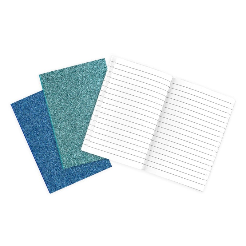 Oh My Glitter! Notebooks: Aquamarine & Sapphire-Set of 3