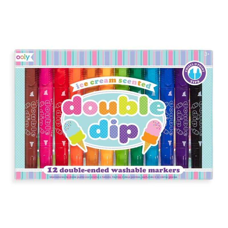 Double Dip Scented Markers-Set of 12