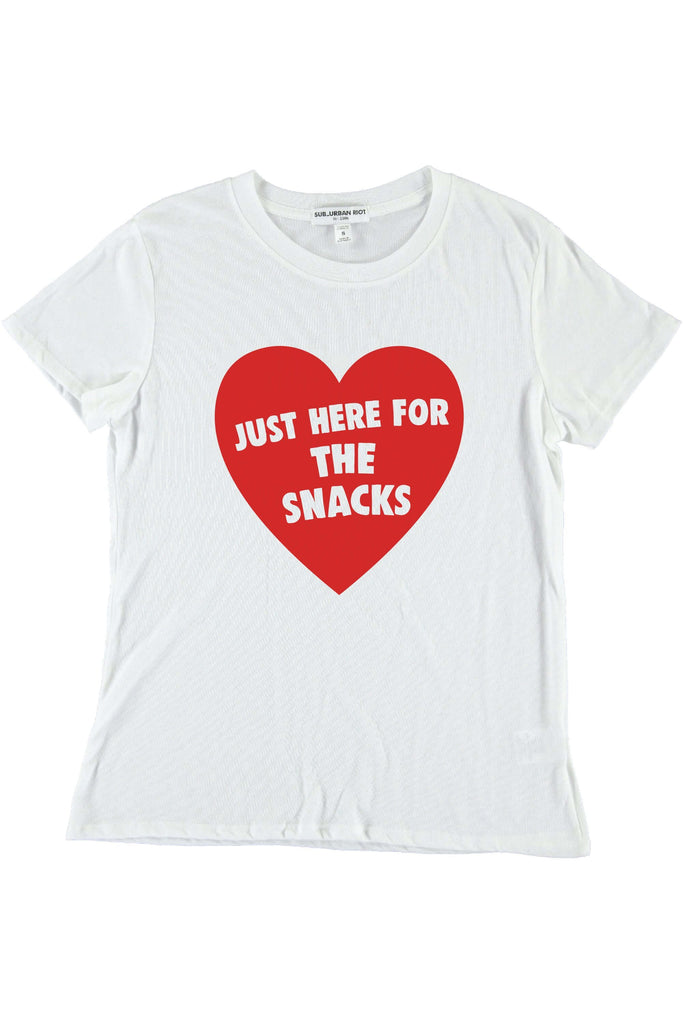 Here For The Snacks Loose Tee