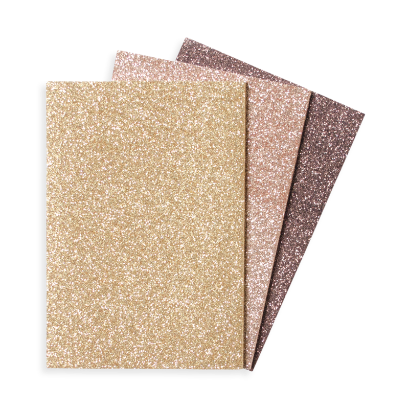 Oh My Glitter! Notebooks: Gold & Bronze-Set of 3