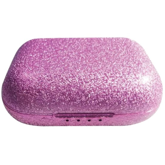 Pink Glitter Compact Earbuds