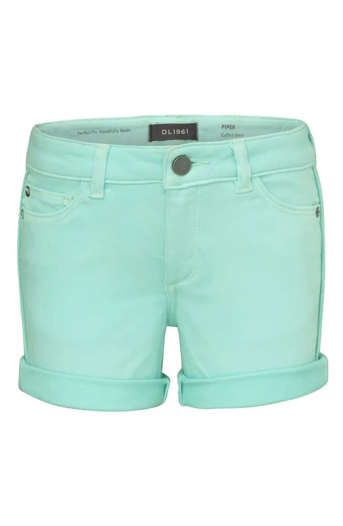 Piper Cuffed Short in Foam Green
