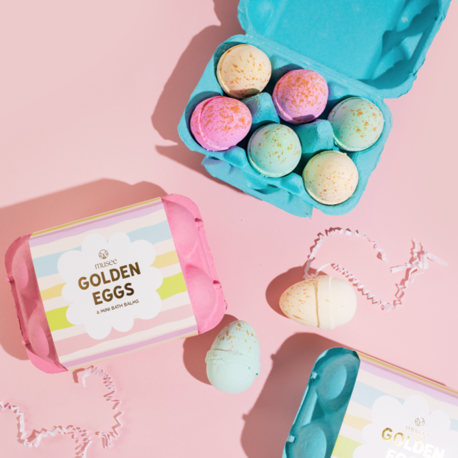 Golden Eggs Bath Balms