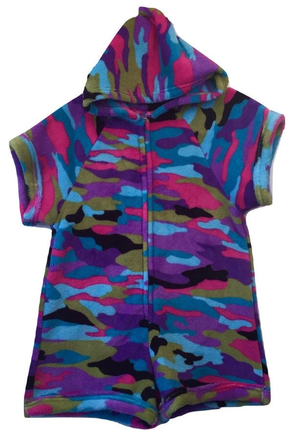 Multi Color Camo Pajama Romper