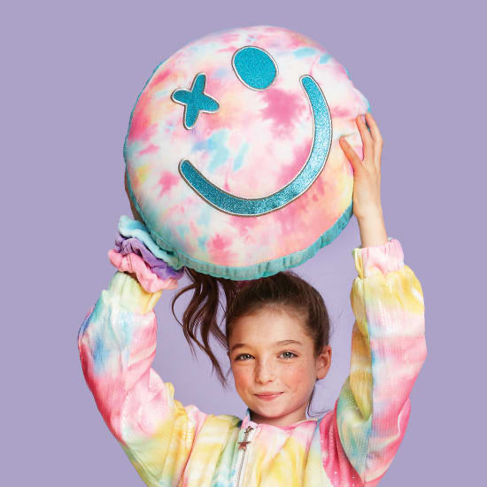 Cotton Candy Smiling Face Scented Pillow