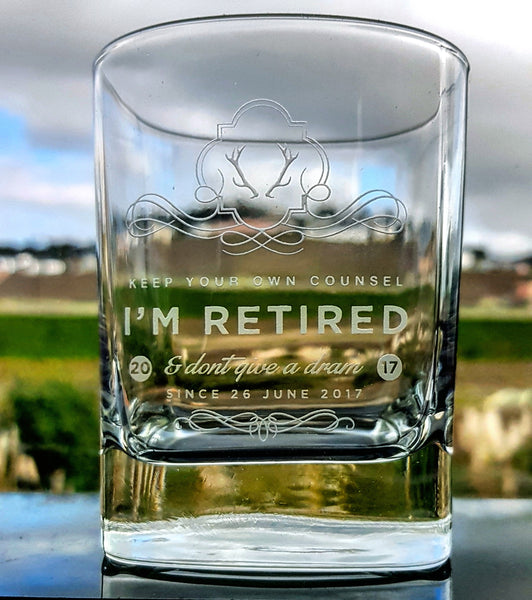Strauss Whisky Glass - MariaJames