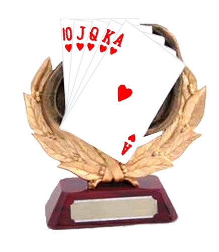 Resin Poker Hand Trophy - MariaJames