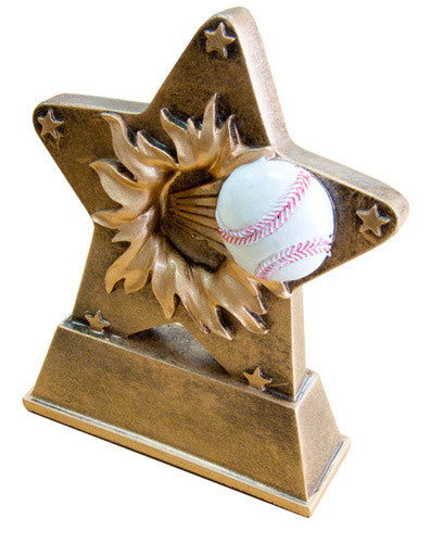 Resin Softball/Baseball - Star Burst Award