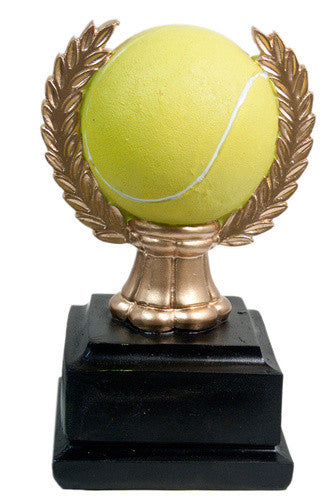 Resin Tennis Ball & Wreath Award - MariaJames