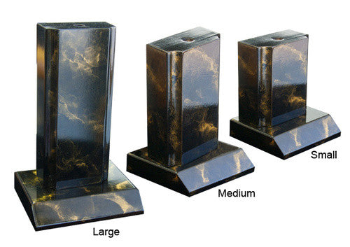 Wood Tower Gold Marble Trophy