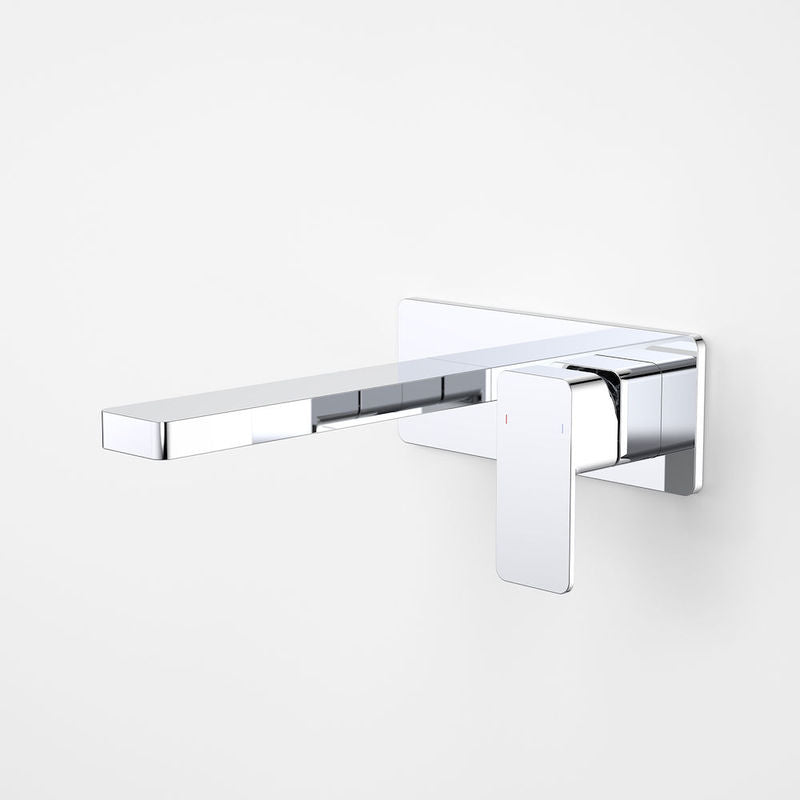 Dorf Epic Platemount Wall Bath Mixer Spout Combo 240mm