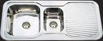 1080mm Kitchen Sink - Double Bowl