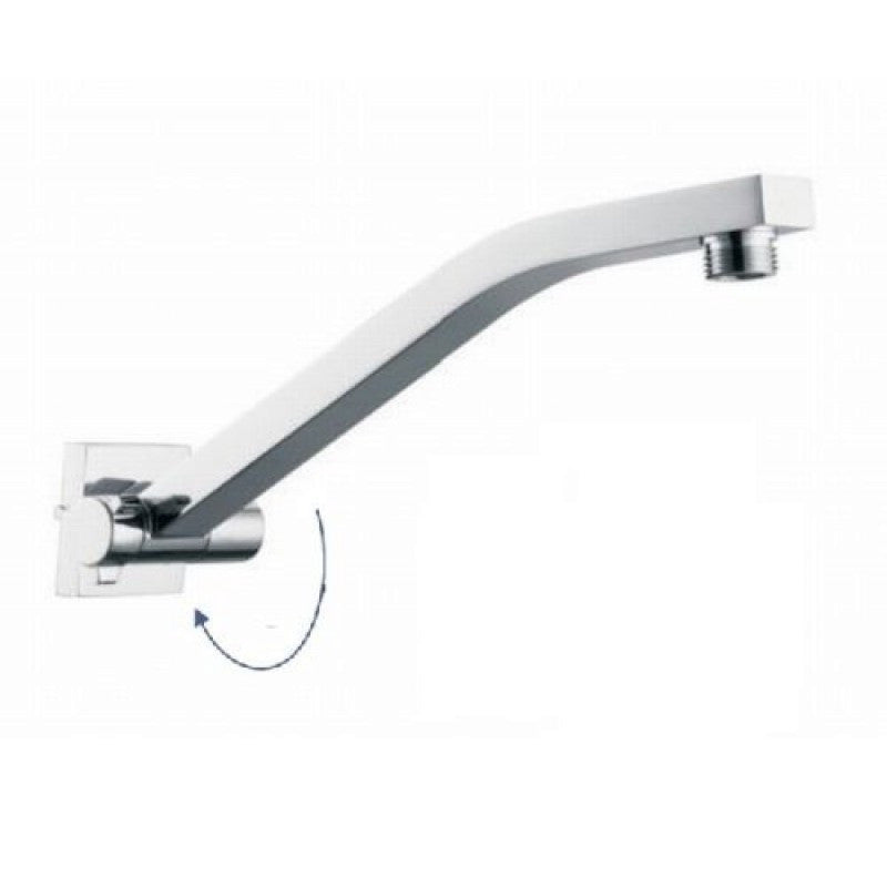 Telescoping Shower Arm : Square chrome adjustable wall mounted shower arm